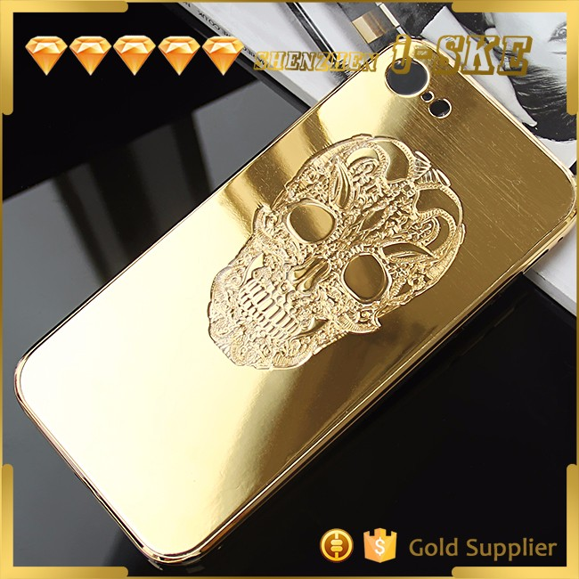 OEM shiny gold plated luxury phone case,for iphone 7 metal case