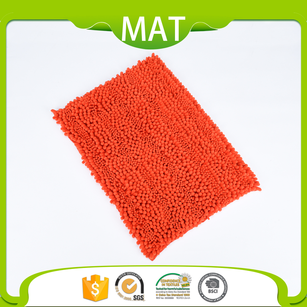 Bathroom Flooring Water Absorbent Chenille Anti Skid Spa Bath Mat