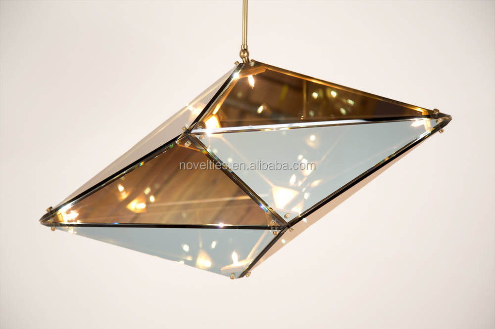 Diamond Glass Pendant Lights with G9 60W for Hotel Luxury Decorative