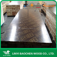 linyi poplar plywood companies /shipped to Vietnam market wooden formwork for constrctiion /15mm/18mm/21mm/25mm brown film