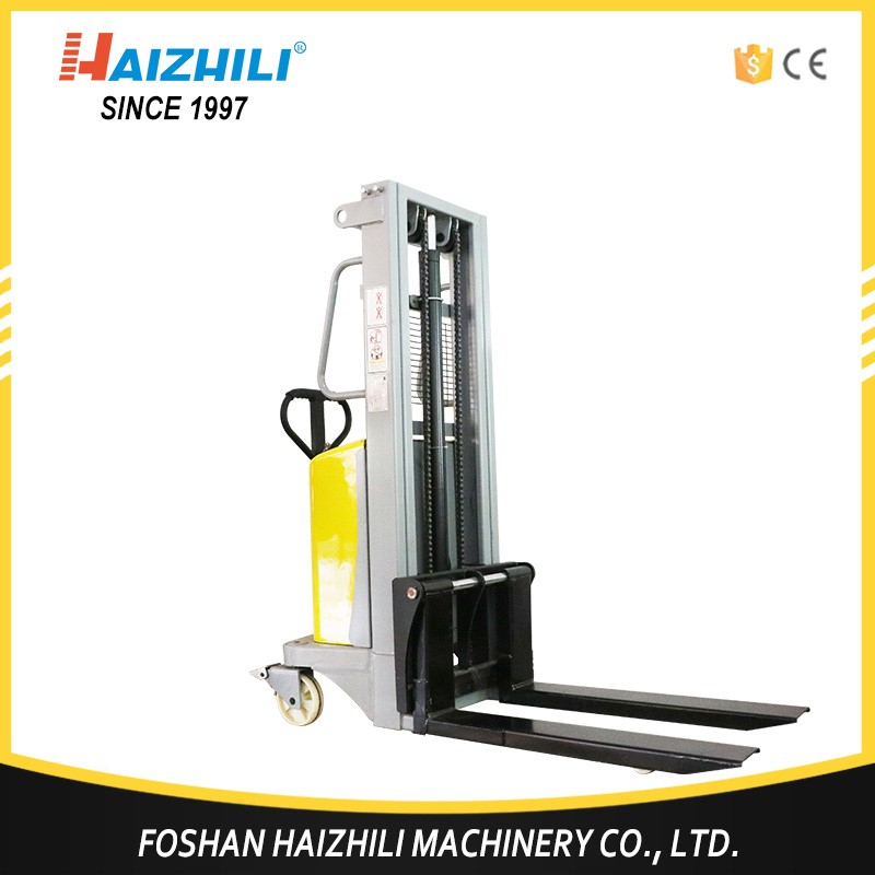High quality pallet jack battery operated fork forklift 1 ton