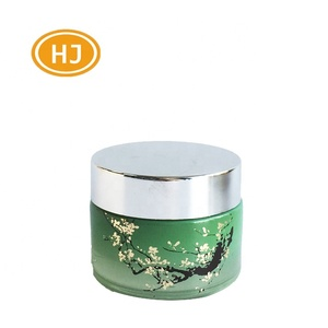 Frosted 30ml/50ml Empty Glass Cream Jar Cosmetic Packaging Cosmetic Jars With Silver/Wooden Lids 50g