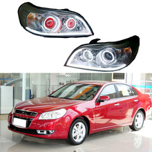 For Chevrolet Epica 2006-2013 Assembly Halo Projector Headlights+Demon Eye HID