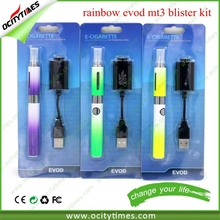 evod electronic cigarette evod twist 3 e cig kit vv /evod mt3 rainbow kit