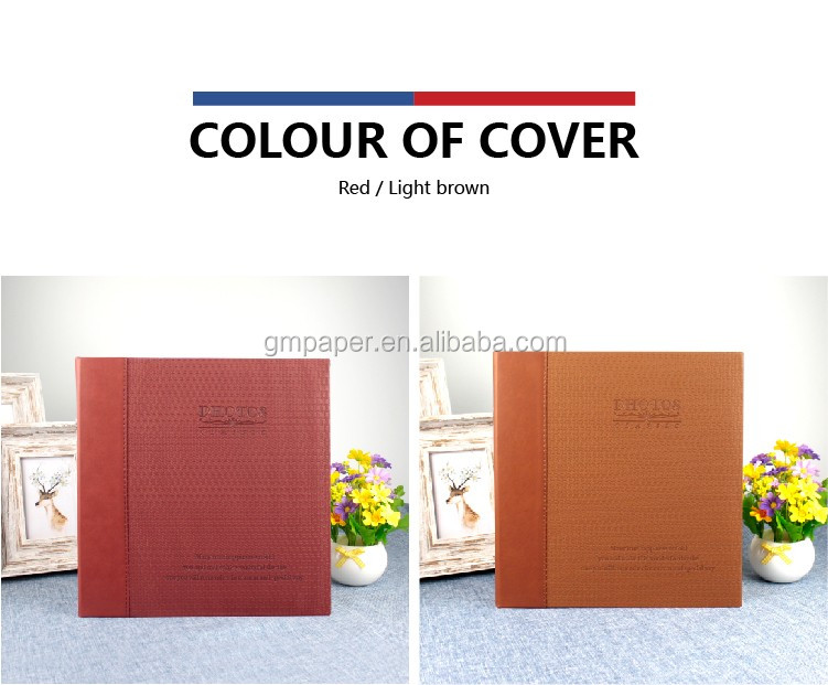 Custom Family Paper Photo Album GuanMei A52023 Self-Adhesive 220X240MM Album 20 Sheets