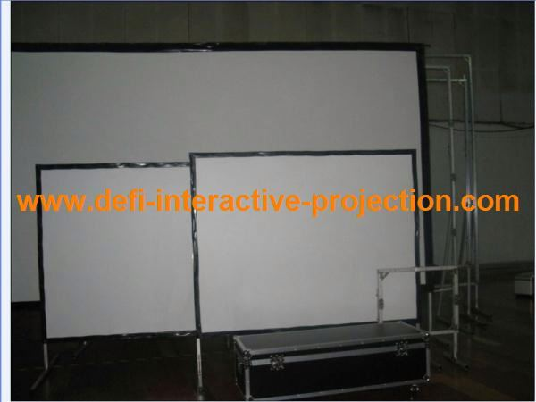 DEFI new design cheap 100/120 inch fast fold projection screen