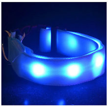 Waterproof Silicone Dog Pet LED Light up Collar