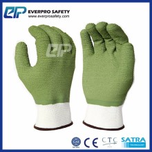 Wholesale Full Coated Latex Grip Safety Gloves with Polyester Liner