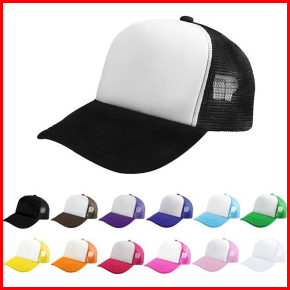 Free Shipping New Mesh Baseball Cap Trucker <strong>Hat</strong> Blank Curved Visor <strong>Hat</strong> Adjustable Blank Color
