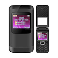 1.77 Inch Transparent Screen Dual SIM Card Flip Mobile Phone Newest Flip Phone