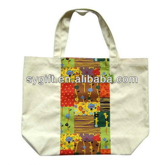 OEM printed hand painted canvas bag