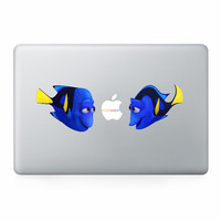 hot sale vinyl removable laptop stickers cute fish mac decals skins glossy wraps films for macbook pro 13 15 retina