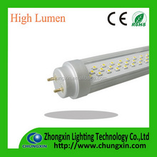 Streak/Frosted/Clear cover Aluminum + PC self-design light board T8 newest rotating end cap t8 led tube