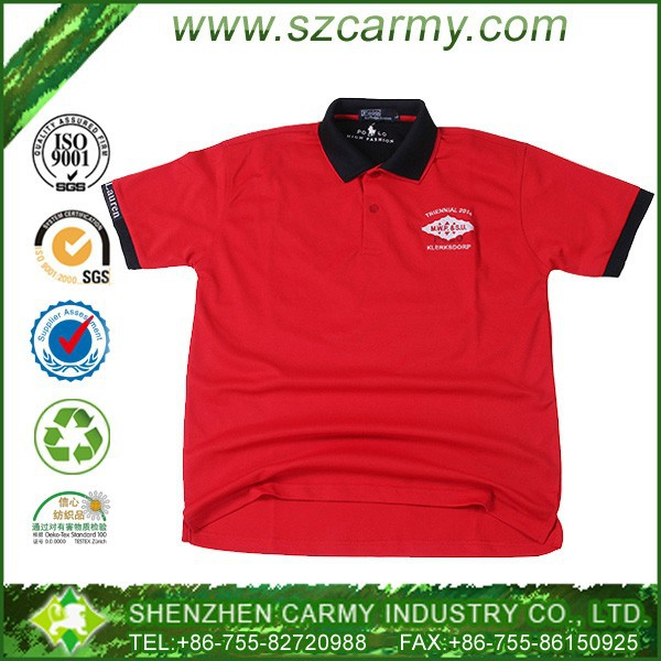 China Wholesale 100% Cotton Turn-down Short Sleeves Low Price Fake Blank Golf Polo Shirts for Men