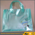 Blue color Design summer frosted bag for fun sling pvc beach bag drawstring closure