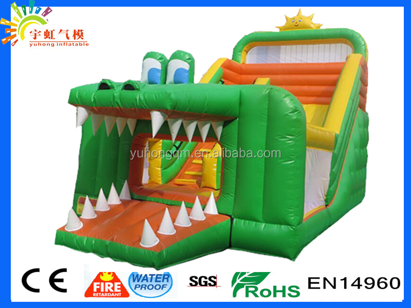 Outstanding big crocodile competitive price 2016 inflatable slip and slide for adult