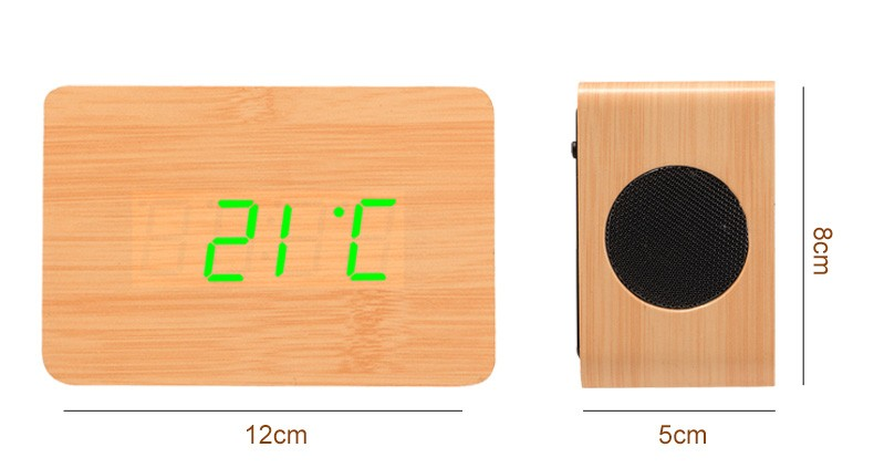 High quality wholesale custom logo imprint portable wooden bluetooth speaker