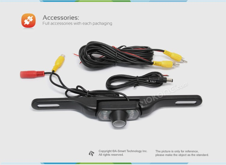 IOKONE Hot Selling Back up Rear View Camera For Car Parking Sensor