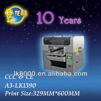 A3 size inkjet flatbed printer, Stable image acrylic printer digital printing machine