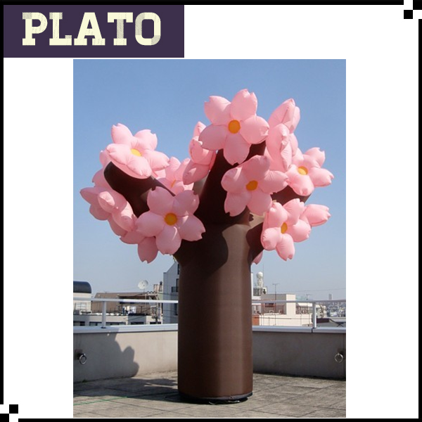 warehouse giant inflatable flower decoration, custom inflatable peach blossom for marriage decorating