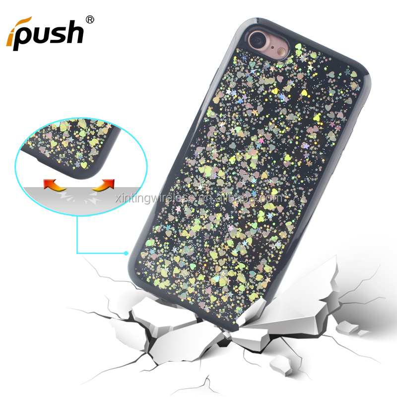 Premium Glitter Cell Phone Cases For iphone 7 luxury bling Soft TPU back cover case