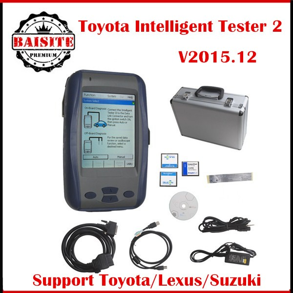 2016 Hot sales universal car diagnostic tool toyota denso intelligent tester it2 tester ii tester 2 scanner hot sales