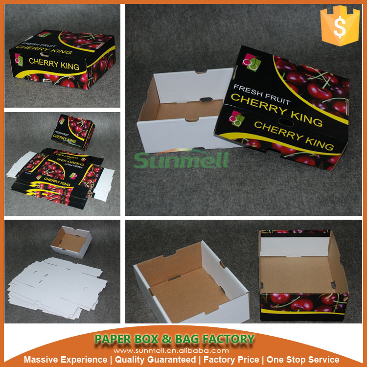 corrugated vegetable carton box cardboard for fruit and vegetable
