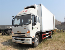 China top brand JAC 6.8m refrigerated van and truck 7.5m refrigerator truck