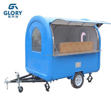 CE Approved Stainless Steel Commercial Electric Ice Cream Cart/ Food Service Cart With Wheels/ Street Food Kiosk Cart Sale