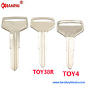 F187 Nickel Painted Blank car key Manufactuers TOY38R TOY4 Suppliers