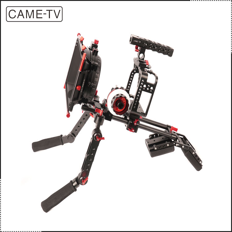 CAME-TV DSLR Camera Protective Rig Cage For Ca non 5D W/ Hand Grip Support