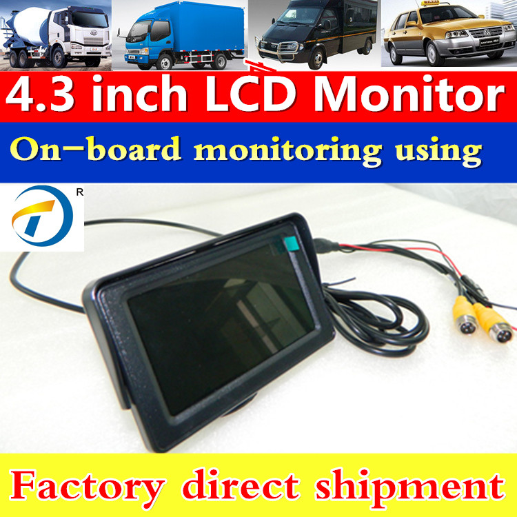 "Hot Sales 4.3"" digital quad bus monitor with 4 pin aviation connector"