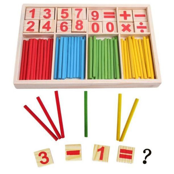 Main Product Montessori Teaching Sticks Early Learning Counting Game Toy for Kid