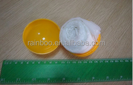Supply all kind of ball shape cheap plastic disposable poncho ball with logo printing for promotional gift