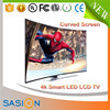 Smart 3d hd lcd curved television wholesale price used led tv