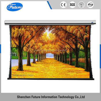 HD 120inch 16:9 luxury tab-tension projection screen with tubular motor