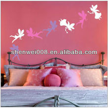 angels fairy shape clear vinyl wall sticker