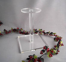 Vintage Lucite Hat Stand Acrylic Display Stand Collectible Store Fixtures Retail Jewelry Holders