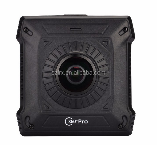 Full HD1080P sport action camera dual 360 degree lens 720 degree panoramic action camera