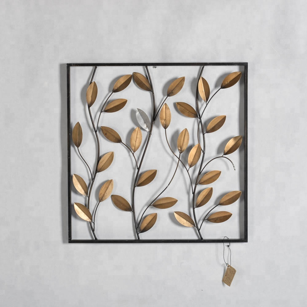 Mayco Framed Leaves Wall Decor Panelwholesale Garden Decoration