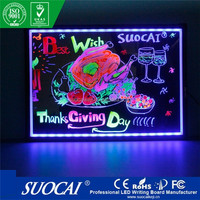 SUOCAI Transparent Led Writing Board with CE RoHS Patent