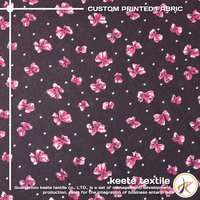 OEM service Directly best quality cheap custom floral printed satin fabric