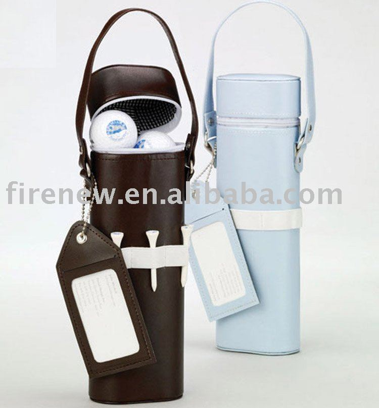 Leather golf ball bags