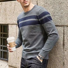 High quality soft cotton/acrylic men round neck pullover sweater