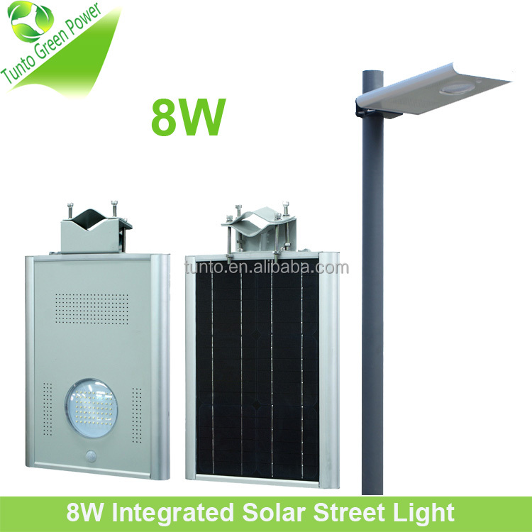 Best price All in one with adjustable poles intergrated LED Solar street light garden light
