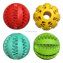 New pet products dog natural rubber ball with teeth toy