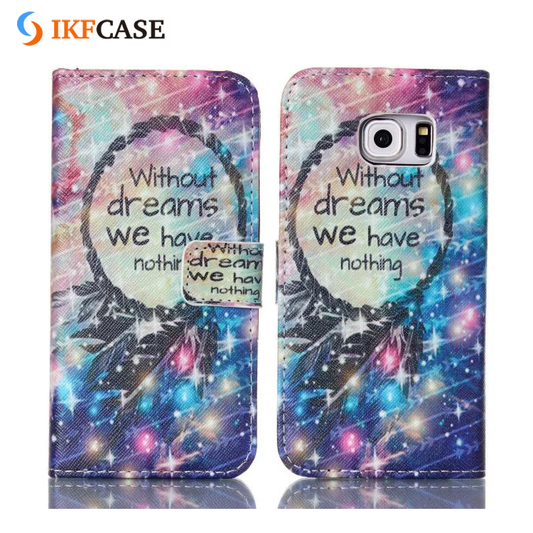 Best Selling Custom TPU Wallet Leather Case with Card Slots For Samsung Galaxy S6