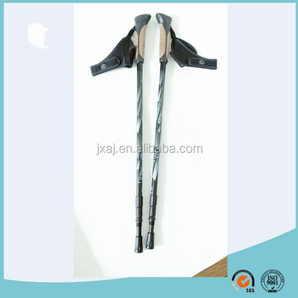 TUV/GS approved 3 sections carbon fiber pole/carbon fiber telesopic pole/nordic walking stick with quick release glove