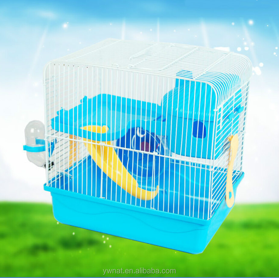 wheel water bottle mini animal house Portable Double Hamster Cage
