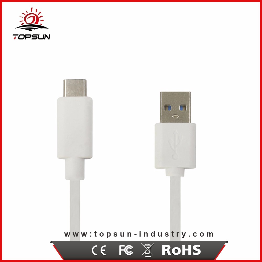 Factory Price White / Black 1m type-c mobile phone flashing cable